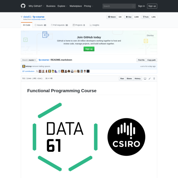 fp-course/README.markdown at master · data61/fp-course · GitHub