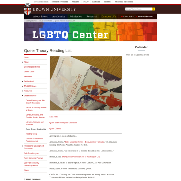 Queer Theory Reading List
