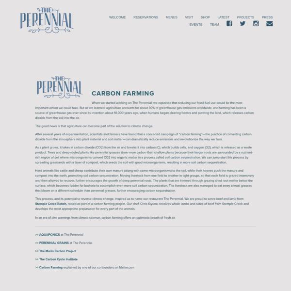 Carbon Farming - The Perennial