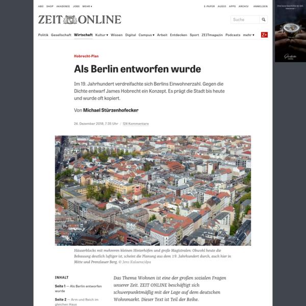 Hobrecht-Plan: Als Berlin entworfen wurde  ZEIT ONLINE