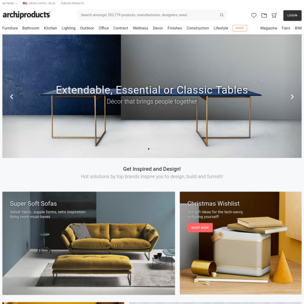 Archiproducts.com, the most powerful search engine for architecture and design products