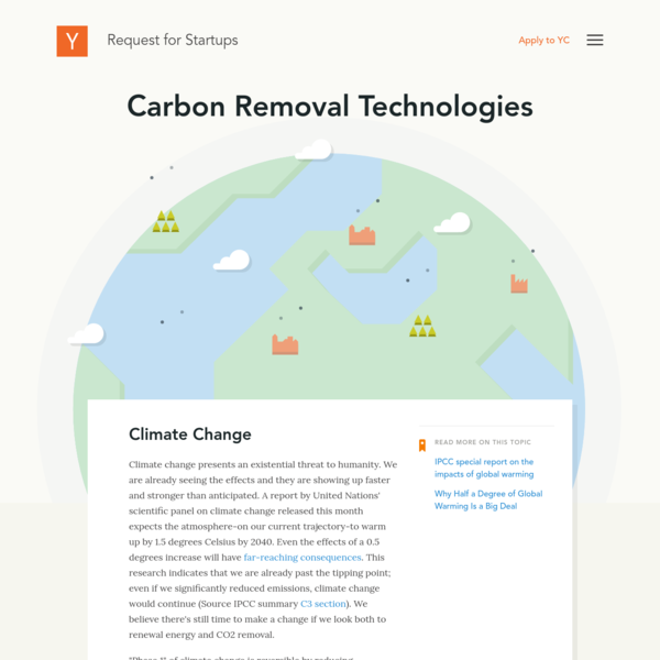 Carbon Removal Technologies | YC Request for Startups