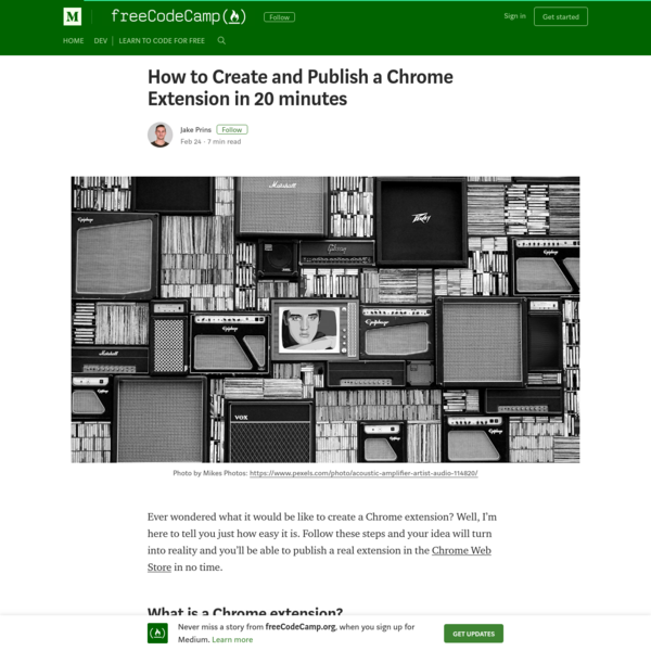 How to Create and Publish a Chrome Extension in 20 minutes