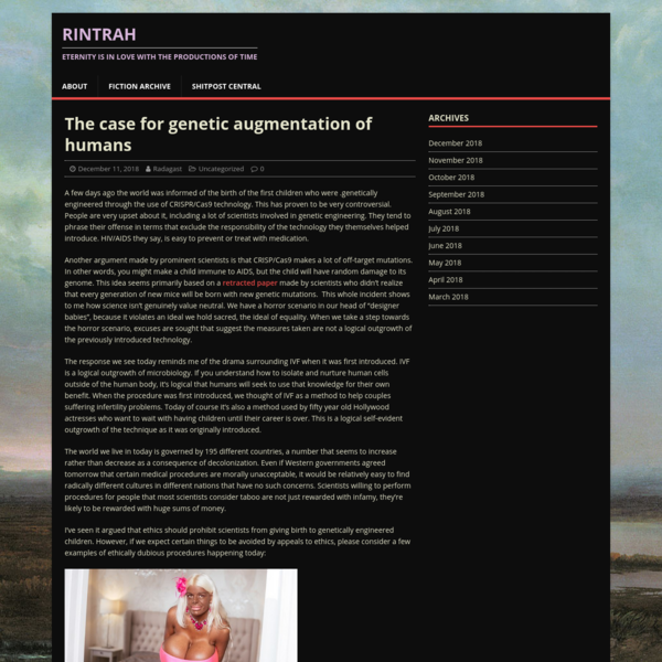The case for genetic augmentation of humans