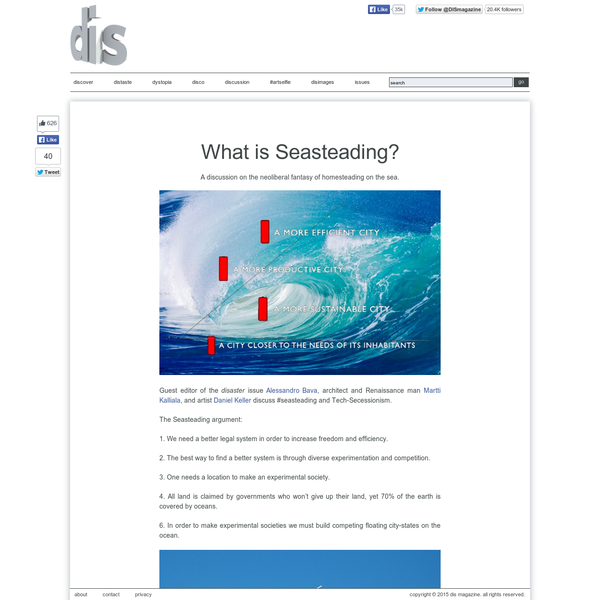 What is Seasteading?