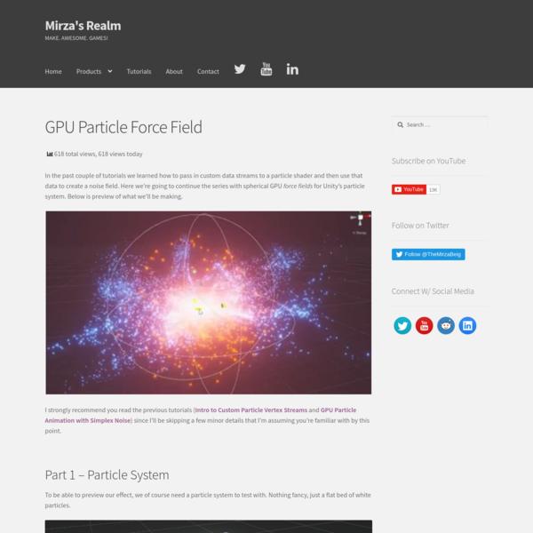 GPU Particle Force Field