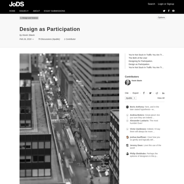 Design as Participation