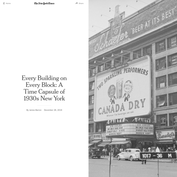 Every Building on Every Block: A Time Capsule of 1930s New York - The New York Times