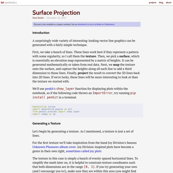 Surface Projection