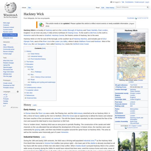 Hackney Wick - Wikipedia