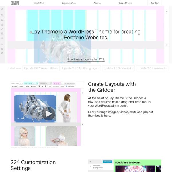 Lay Theme - The Designer's Portfolio Theme 😱