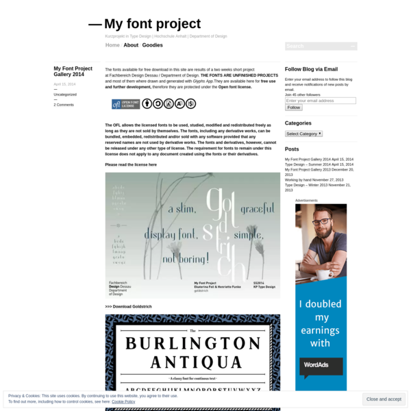 My font project