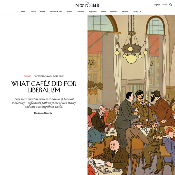 What Cafés Did for Liberalism | The New Yorker