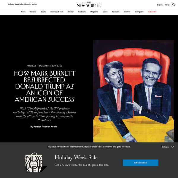 How Mark Burnett Resurrected Donald Trump as an Icon of American Success | The New Yorker