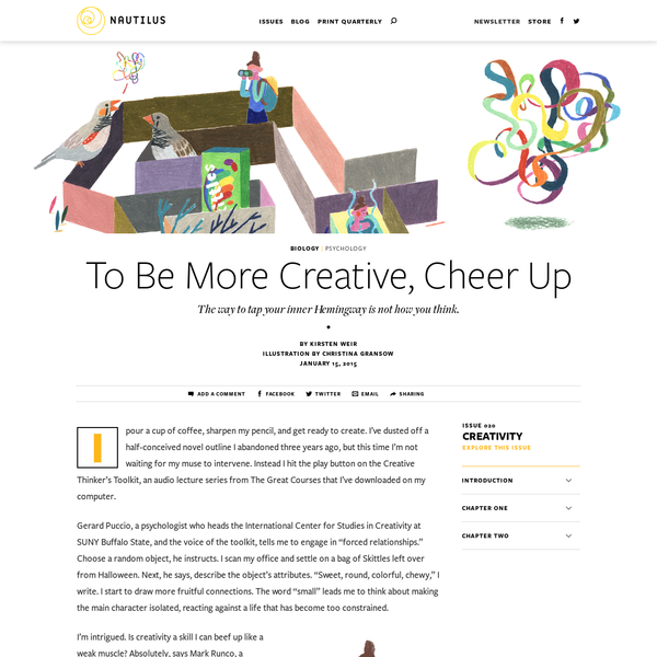 To Be More Creative, Cheer Up - Issue 20: Creativity - Nautilus