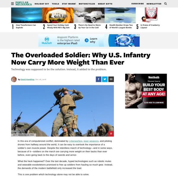 The Overloaded Soldier: Why U.S. Infantry Now Carry More Weight Than Ever