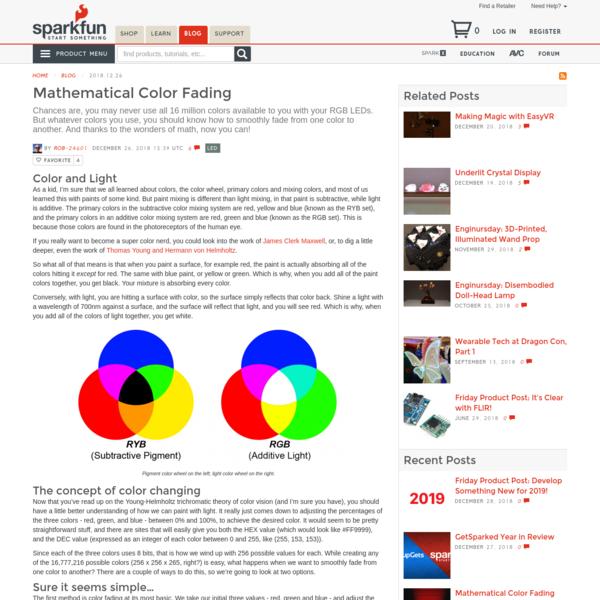 Mathematical Color Fading - News - SparkFun Electronics