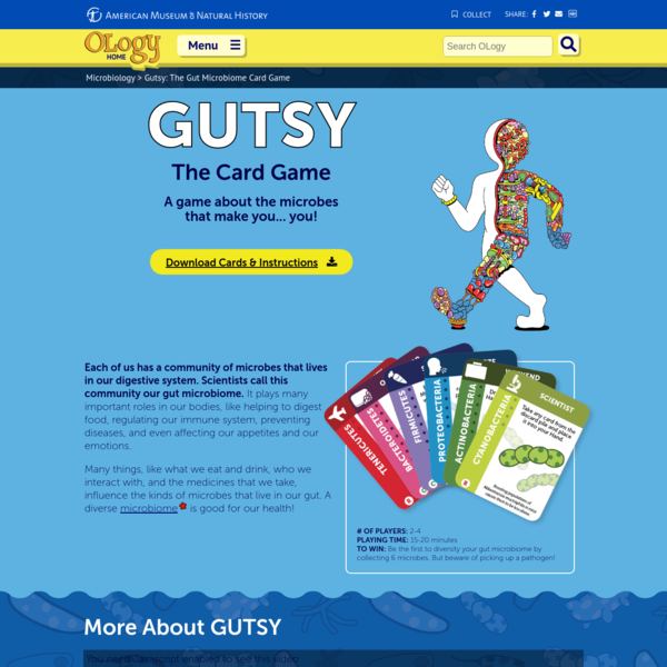 Gutsy: The Gut Microbiome Card Game | AMNH