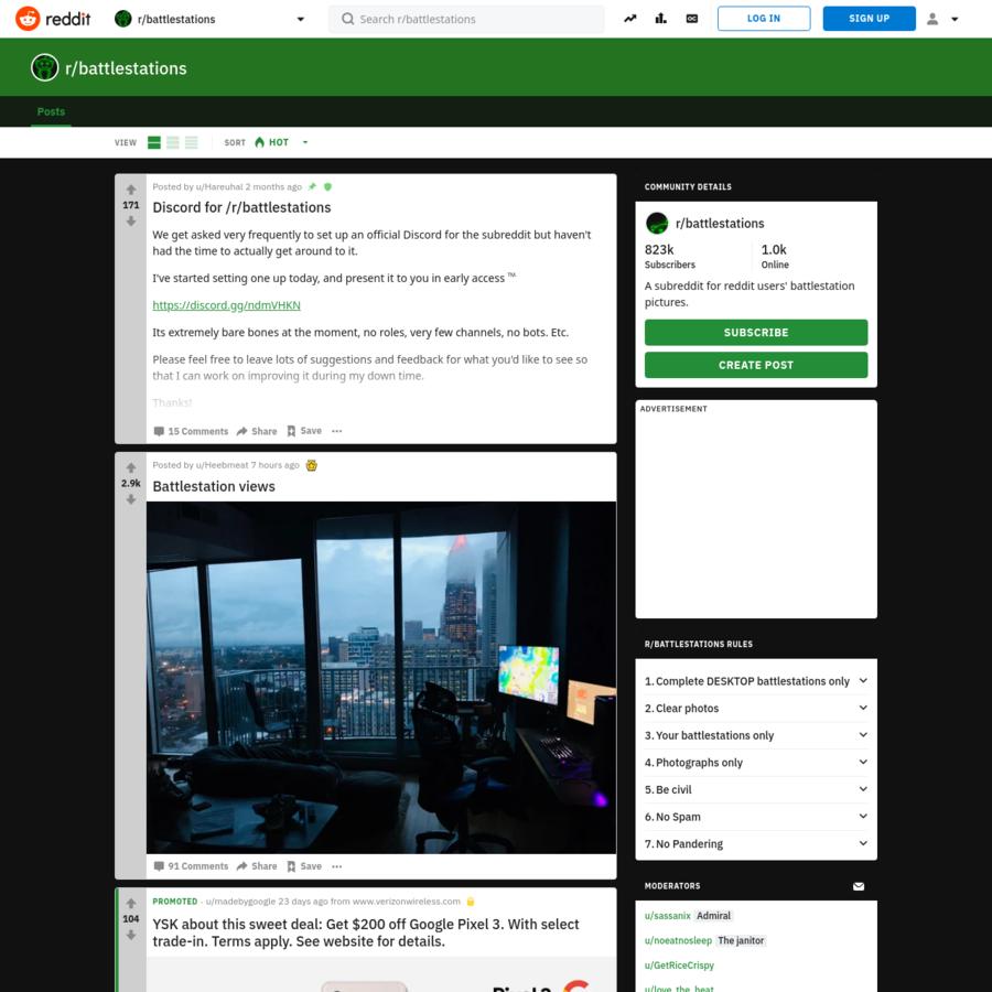 r/battlestations: A subreddit for reddit users' battlestation pictures.