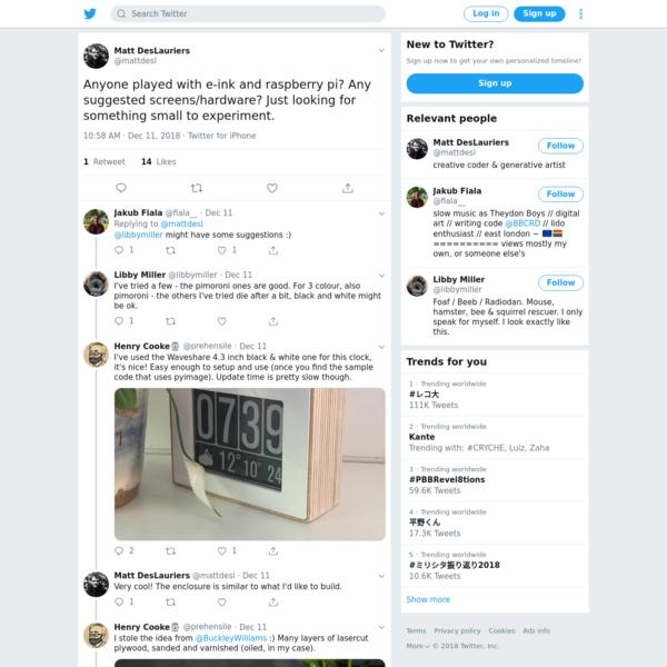 Matt DesLauriers on Twitter