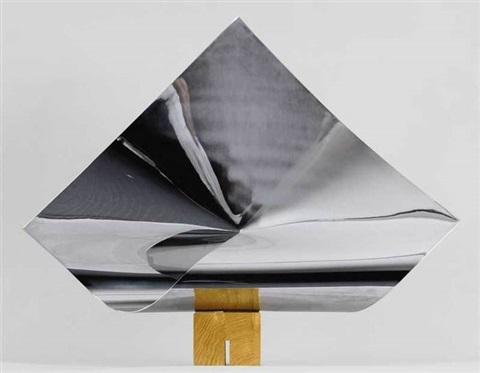 Max Bill, Viereckfläche im Raum mit gleichen Seitenlängen, 1952 chrome-plated brass on wood basel 55 x 79 x 12 cm (21,7 x 31,1 x 4,7 in)