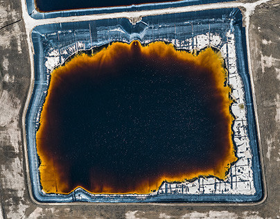 Aerial Photographs of open pit phosphate mining in Florida, USA.Photographed February 2015.© Bernhard Lang