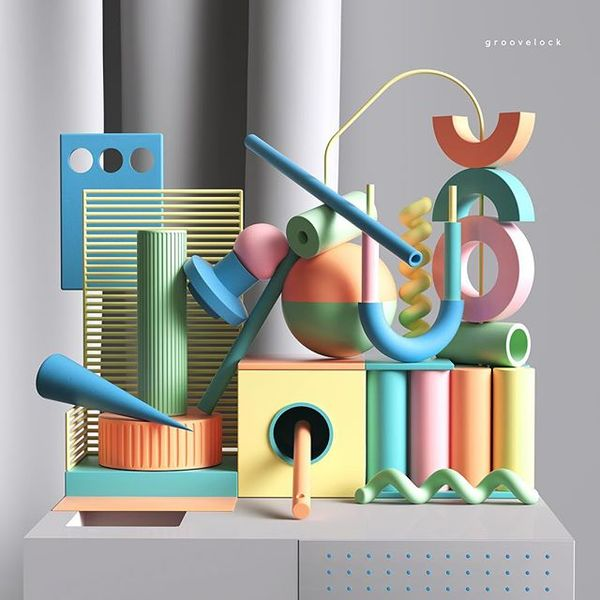 "3,523 Likes, 31 Comments - Peter Tarka (@petertarka) on Instagram: ""Groovelock #installation #set #abstract #design #box #geometry #geometrical #c4d #cinema4d #render..."""