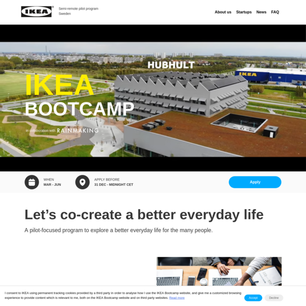 IKEA Bootcamp - in collaboration with Rainmaking