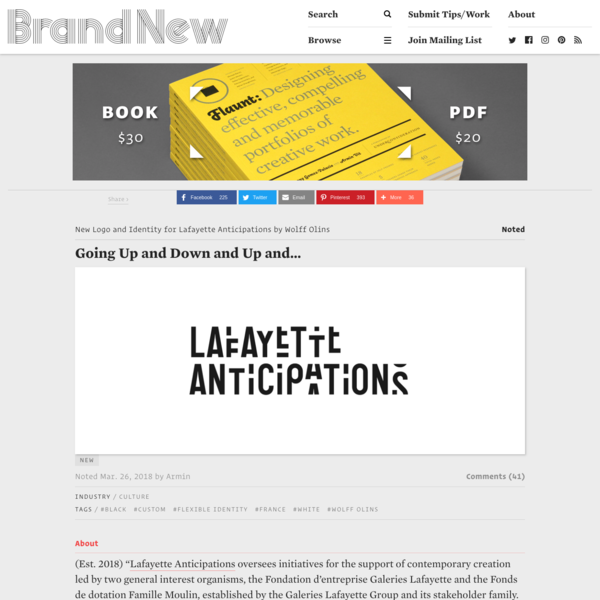 Brand New: New Logo and Identity for Lafayette Anticipations by Wolff Olins