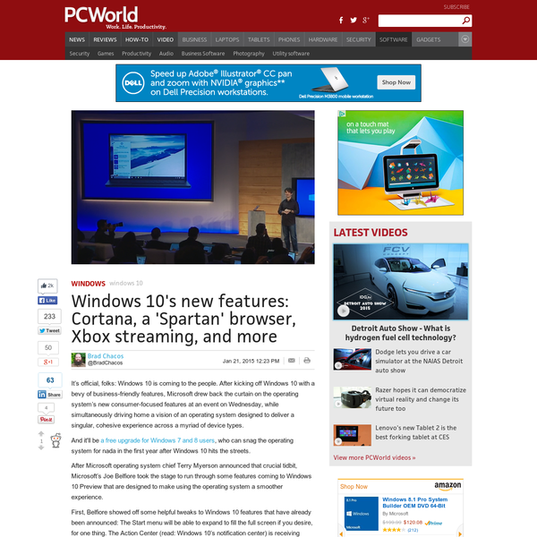 Windows 10's new features: Cortana, a 'Spartan' browser, Xbox streaming, and more