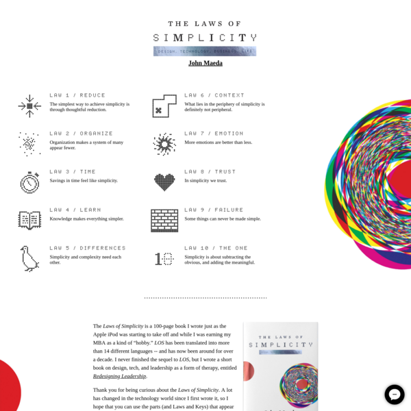 The Laws of Simplicity / John Maeda
