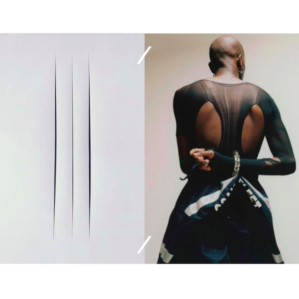 Lucio Fontana painting / Yves Tumor by photographer Vitali Gelwich