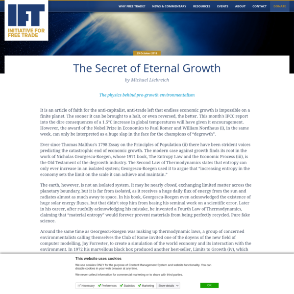 The Secret of Eternal Growth | IFT