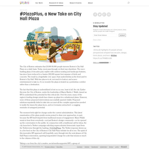 #PlazaPlus, a New Take on City Hall Plaza