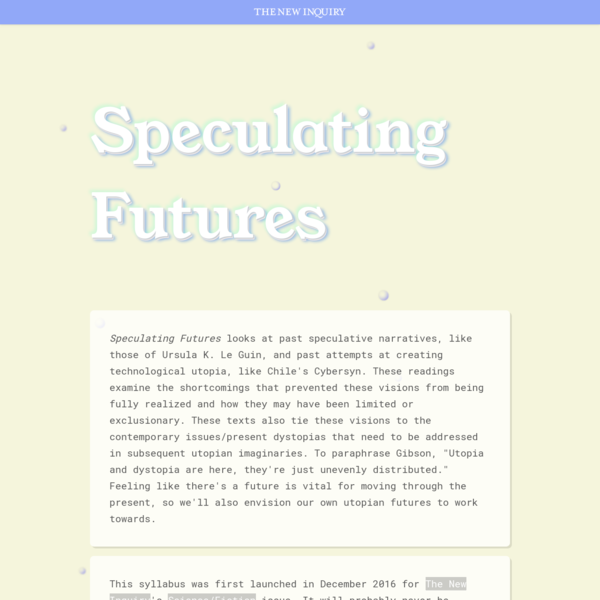 Speculating Futures