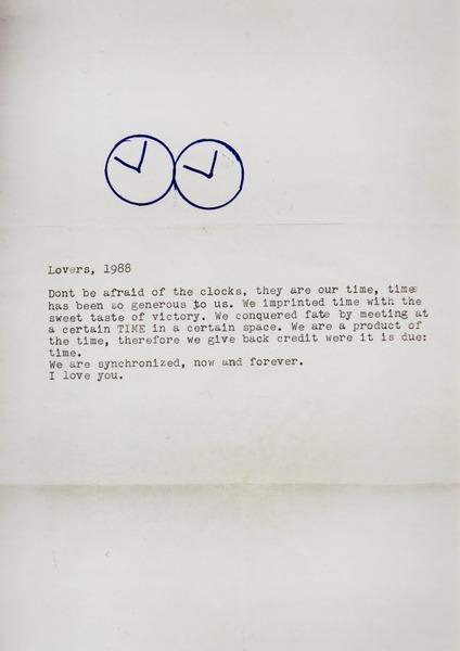 Figure 7: Felix Gonzalez-Torres, Lovers, 1988
