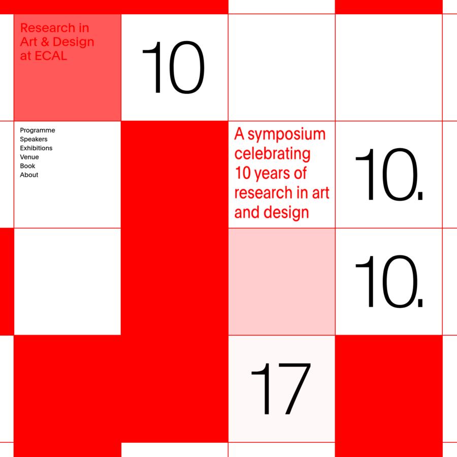 Research in Art & Design at ECAL