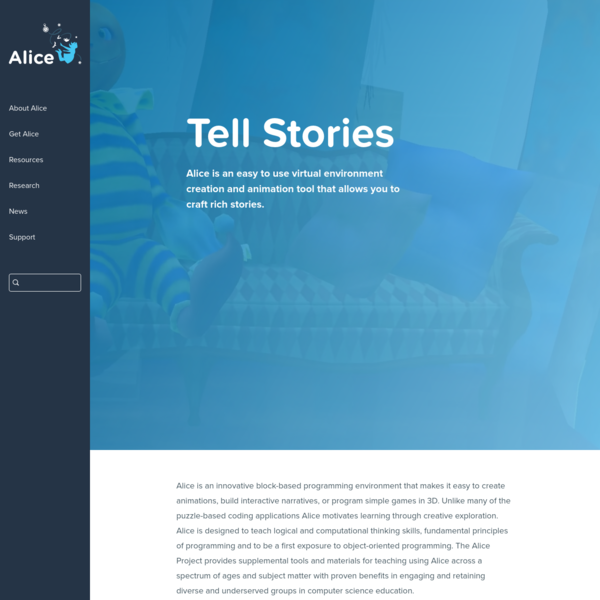 Alice - Tell Stories. Build Games. Learn to Program.