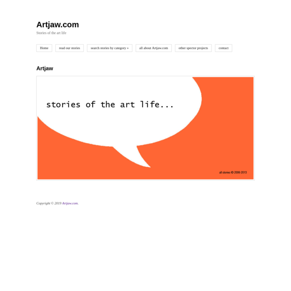 Artjaw.com: Stories of the art life