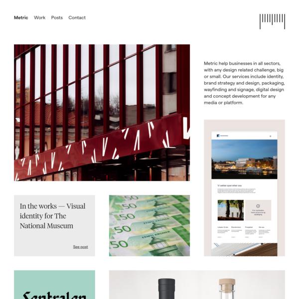 Homepage - Metric (en)