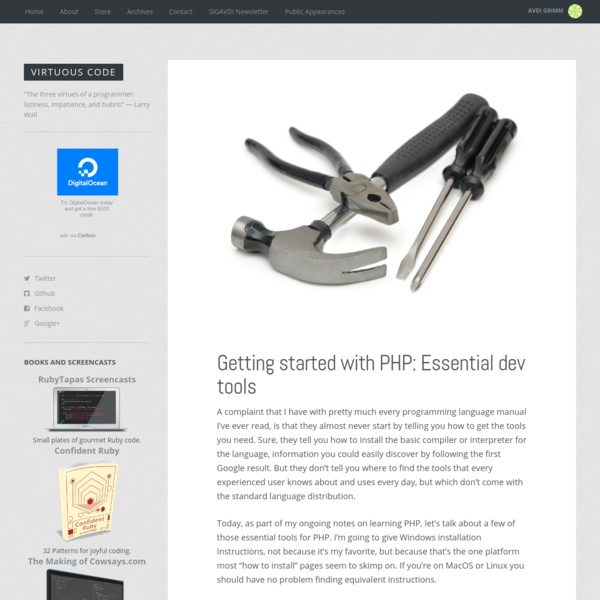 Getting started with PHP: Essential dev tools