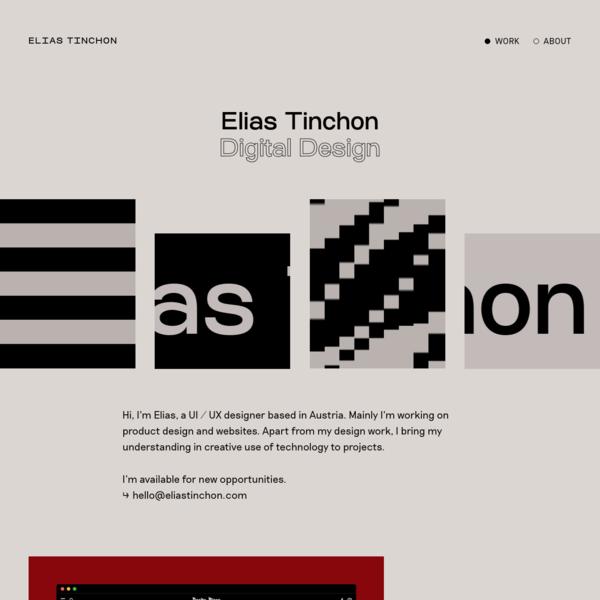 Portfolio of Elias Tinchon - Design & Code