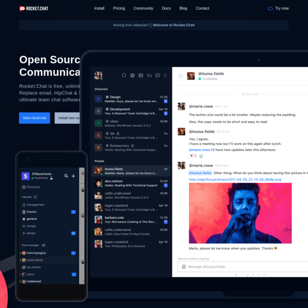 Rocket.Chat - Free, Open Source, Enterprise Team Chat