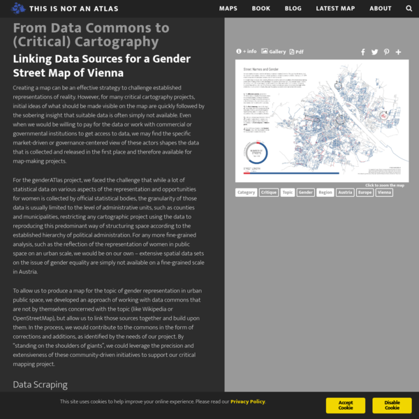 From Data Commons to (Critical) Cartography - This is not an atlas