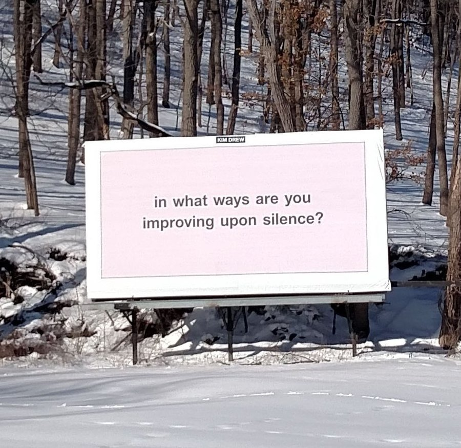 """""""in what ways are you improving upon silence?"""""""