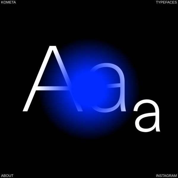 KOMETA - Contemporary typefaces