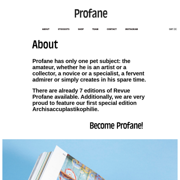 About - Profane
