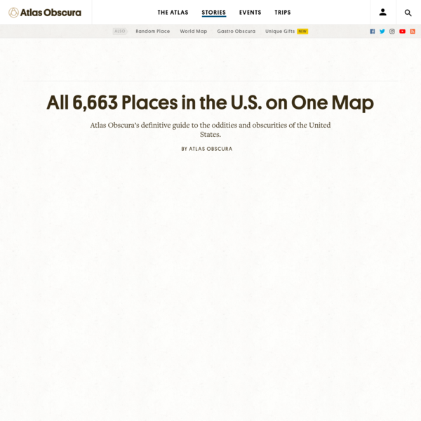 The Definitive Map of the Most Strange and Wondrous Places in the U.S.