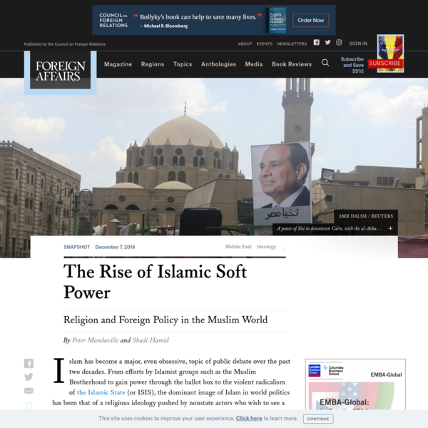 The Rise of Islamic Soft Power