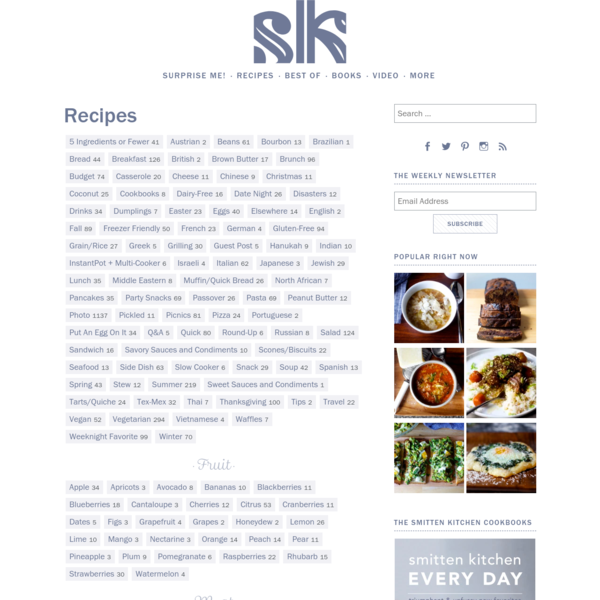 Recipes - smitten kitchen